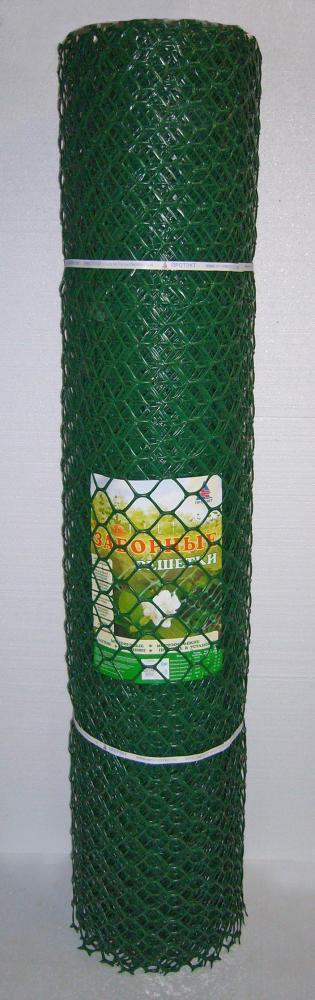 Заборная решетка З-55/1,9/25 зеленая 55х58 мм рулон 1,9х25 м