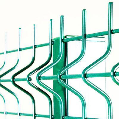 Панель ограждения 1530х2500х3 мм 3 ребра 200х60 мм из оцинкованной проволоки с порошковым покрытием