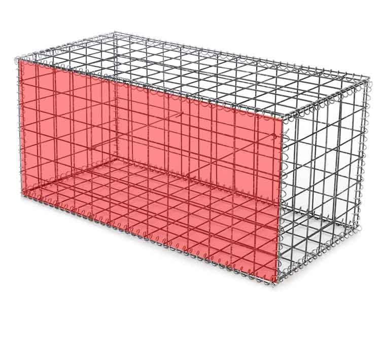 Сетка для габионов оцинкованная 100х50х5 размер 0,5х1 м