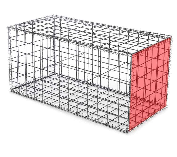 Сетка для габионов оцинкованная 100х50х5 размер 0,5х0.5 м