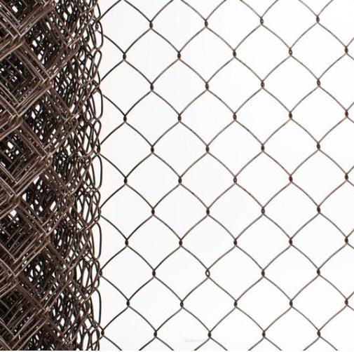 Сетка плетеная в ПВХ Рабица 50х50х2,2 рулон 1,5х10 м коричневая