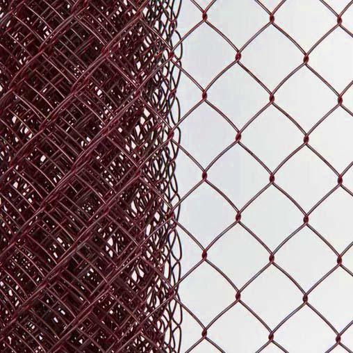 Сетка плетеная в ПВХ Рабица 50х50х2,2 рулон 1,5х10 м вишня