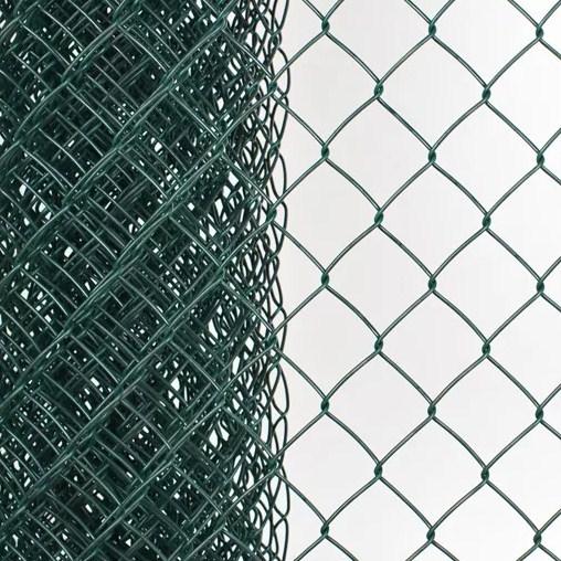 Сетка плетеная в ПВХ Рабица 50х50х2,2 рулон 1,5х10 м зеленая