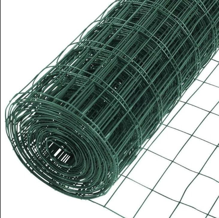 Сетка сварная в ПВХ неоцинкованная 100х50х1,8 рулон 1,5х20 м